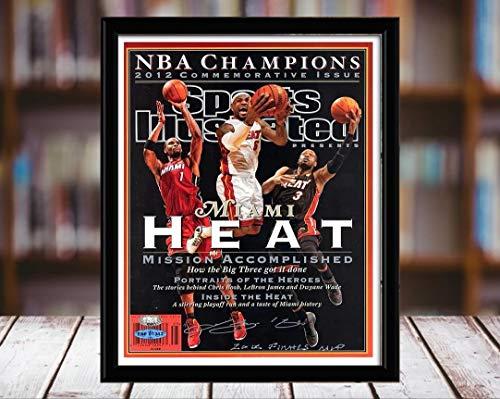 James, Wade, and Bosh Sports Illustrated Autograph Replica Print - Championship Comm - Miami Heat - 2012-8x10 Desktop Framed Print