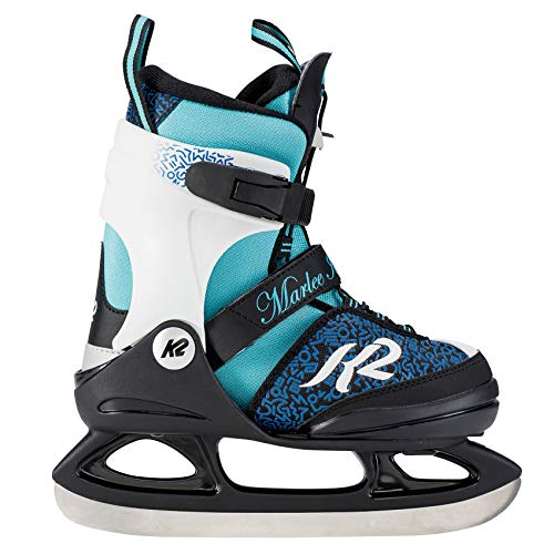 K2 Skate Girl's Marlee Ice Skate, Blue Black, 4-8 by K2 Skate