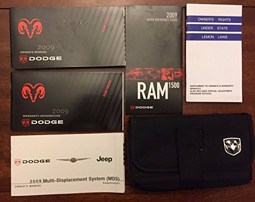 2009 09 DODGE RAM 1500 2500 3500 GAS LARAMIE OWNERS MANUAL USER GUIDE KIT SET OEM