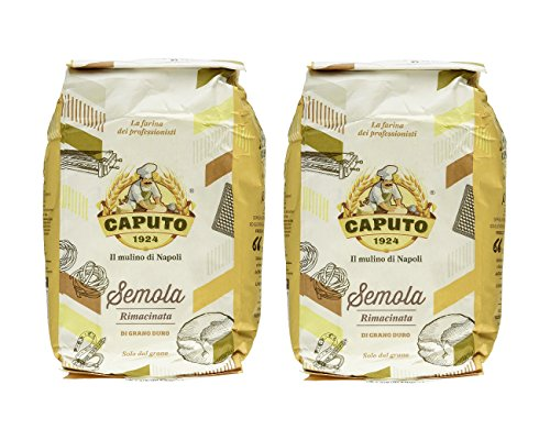 Caputo Semola Di Grano Duro Rimaninata Semolina Flour 1 kg Bag (Pack of 2)