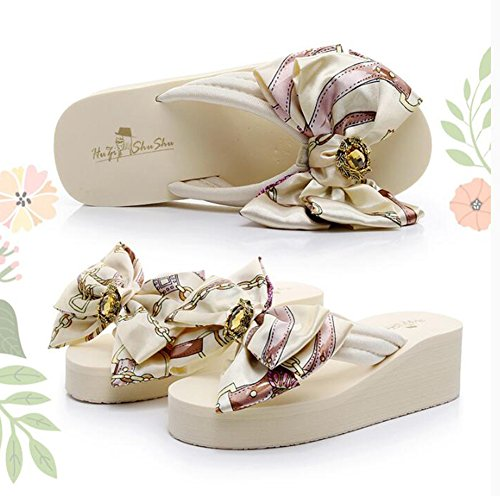 moño de de 3 Fondo Tamaño EU36 3 de Corbata Beige zapato LIXIONG moda e88619