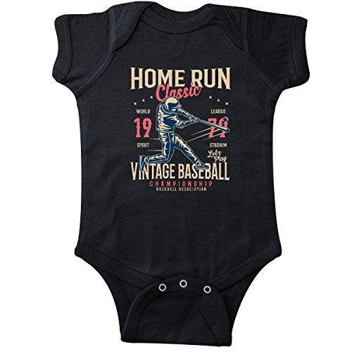 inktastic Home Run Classic Infant Creeper 18 Months Black ()