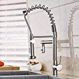 Rozin Brushed Nickel Single Hole Kitchen Sink Faucet Two-water Model Spray Mixer Tap Brushed Nickel