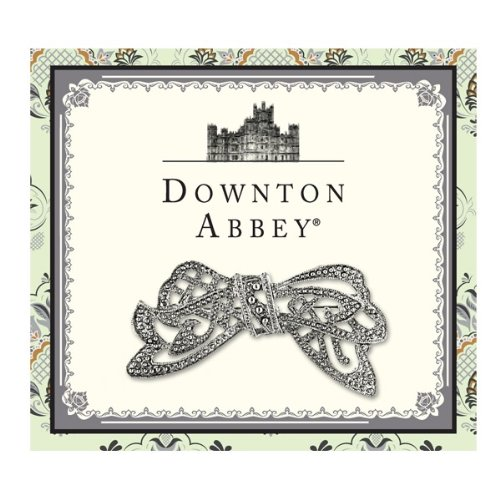 Downton Abbey Collection Silver Crystal Edwardian Bow Pin 17597]()