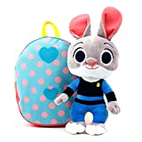 Disney Zootopia Judy Plush Doll Toy Lunch Box Backpack with Safety Harness Anti Lost Strap for Kids Toddler Baby Little Girls