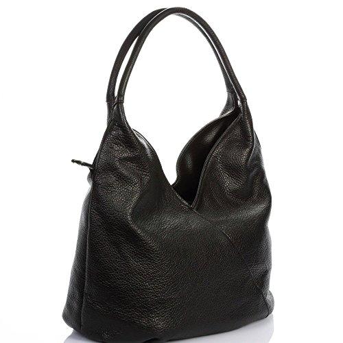 à nbsp; HAPPY grainé cuir Sac Olivia Cadeau cuir main surprise Femme noir N1933 Sac fqEatx
