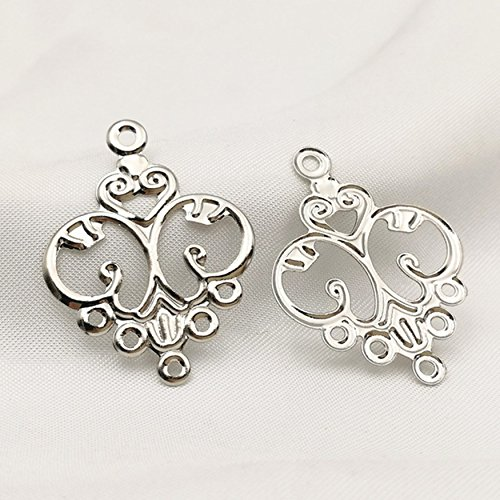 Charm Filigree Flower Chandelier Dangle Earring Connector Craft Jewelry Making Finding DIY (Chandelier Flowers Earrings)