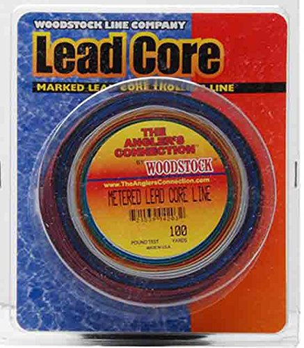Trolling Fishing Line (Woodstock 12-Pounds Metered Lead Core Fishing Line, 100 Yards)