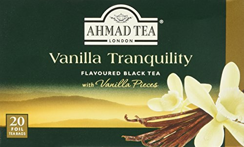 Ahmad Tea – Vanilla Tranquility | Te negro con sabor a vainilla | 20 bolsas de te de 2 g con cinta