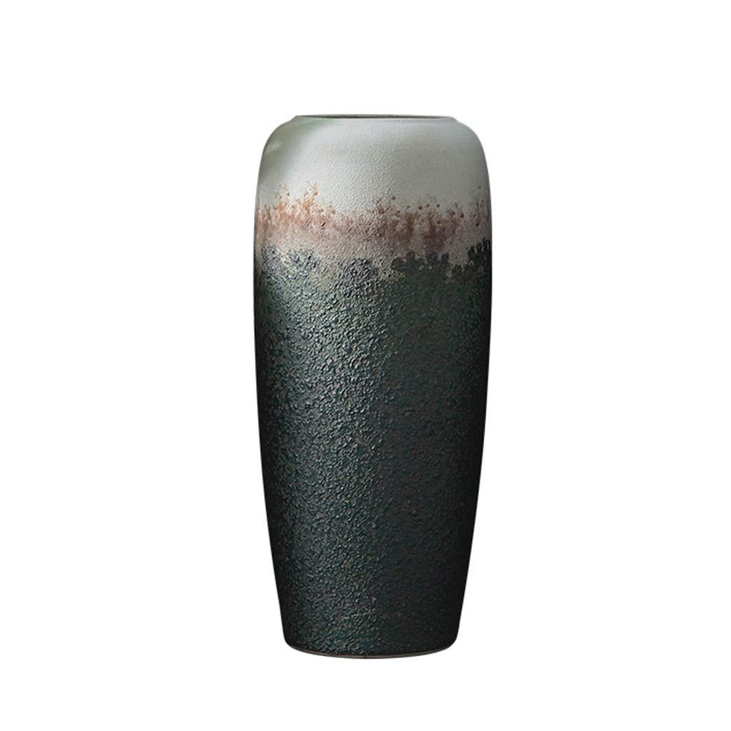 ホール花瓶、レトロスタイルセラミックス装飾コーヒーショップリビングルーム花瓶寝室秋グランドクリエイティブグラデーションカラー花瓶 (サイズ さいず : 25*60CM) B07QZKFYN3  25*60CM