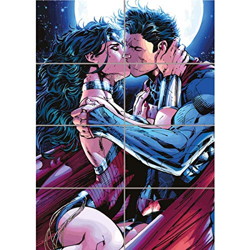 (Doppelganger33 LTD Superman Wonderwoman KISS Giant Picture Art Print Poster ST1057)