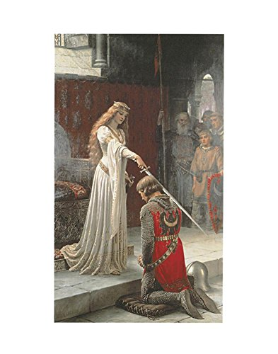 The Accolade Art Print Art Poster Print by Edmund Blair Leighton, 11x14 (Accolade Print Poster)