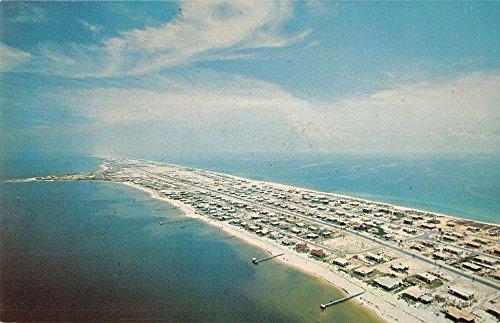 Pensacola Beach Florida Birdseye View Of City Vintage Postcard K55126 (Stores In Pensacola)