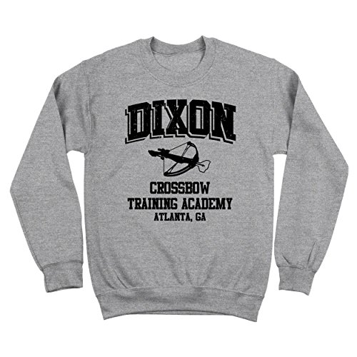 USA Direct Daryl Dixon Crossbow Training Academy Walking Dead Zombie Mens Sweatshirt X-Large Gray