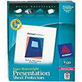 Avery Super Heavyweight Diamond Clear Sheet Protectors, 8.5'' x 11'', Acid-Free, Easy Load, 50ct (74130)