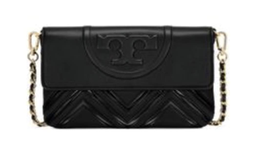 976bc3926dc Tory Burch. Fleming Black Geo Quilted Clutch Shoulder Bag Handbag. Back.  Double-tap to zoom