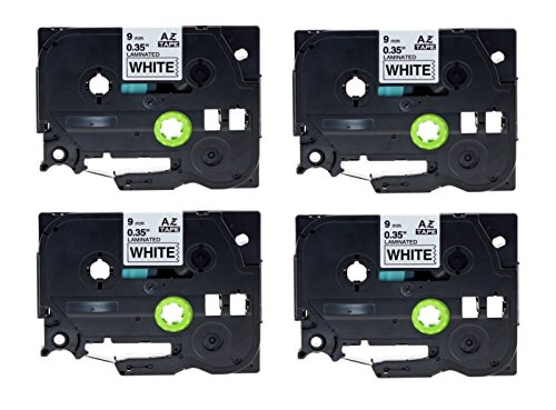 refurbXperts Compatible Black on White Label Tape Replacement for Brother P-Touch TZE221, TZE-221 (4 pack) (Renewed)
