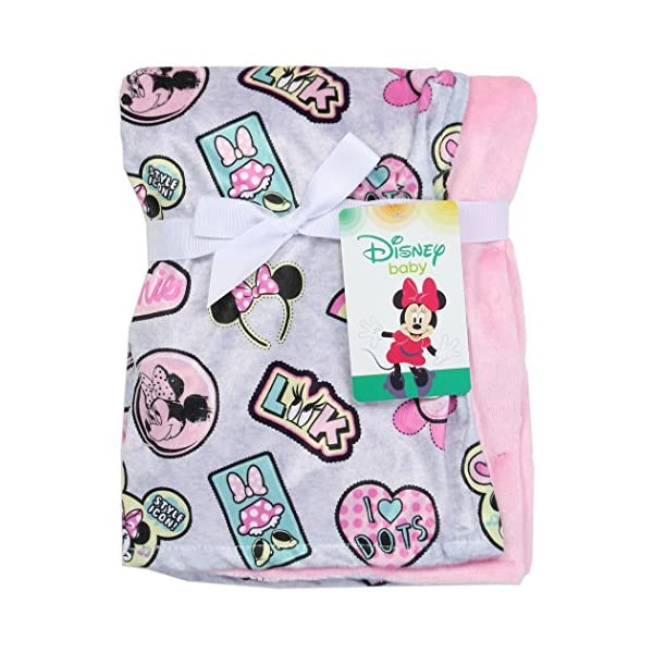 Minnie Mouse Soft Baby Girl Blanket. Pink. 30″ x 30″