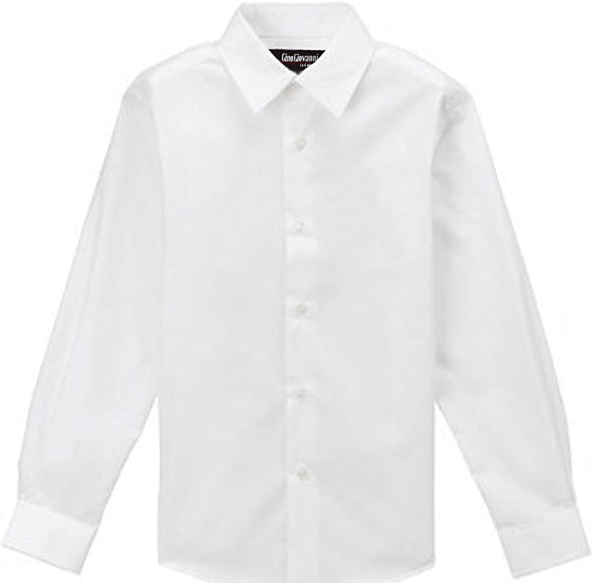 Gino Giovanni Formal White Dress Shirt for Boys From Baby to Teen