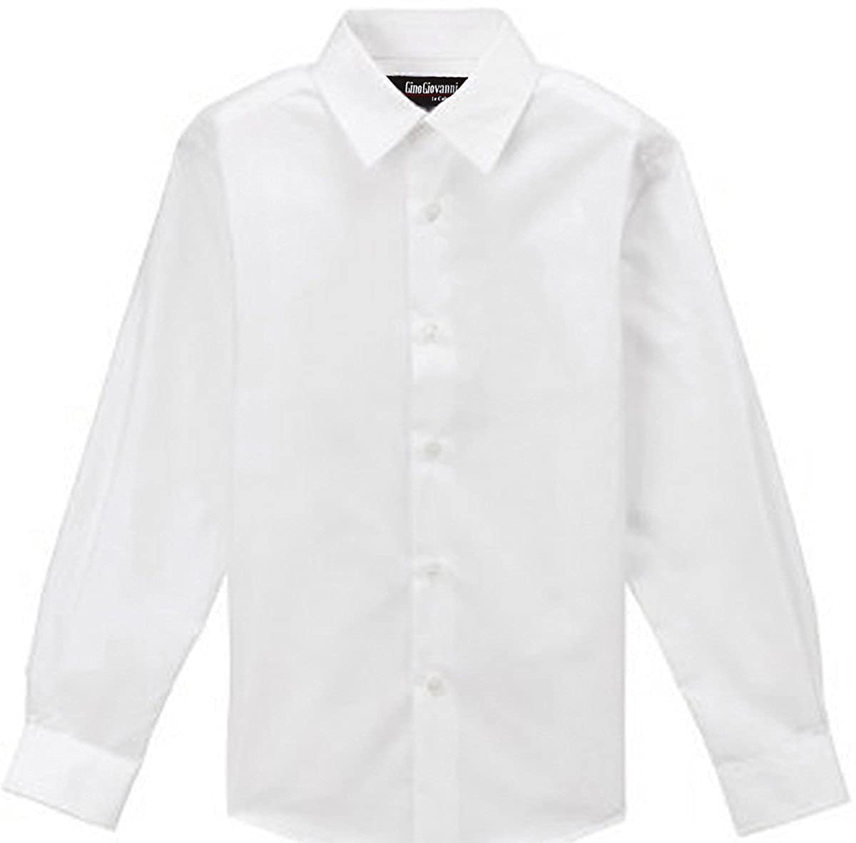 Amazon Gino Giovanni Formal White Dress Shirt For Boys From