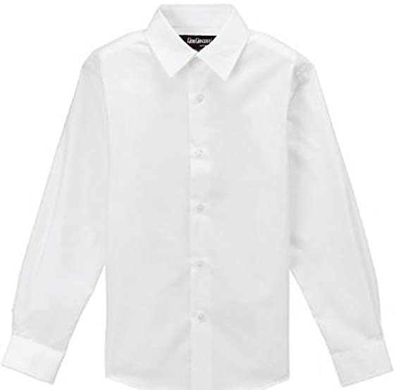 Amazon.com: Gino Giovanni Formal White Dress Shirt for Boys From ...