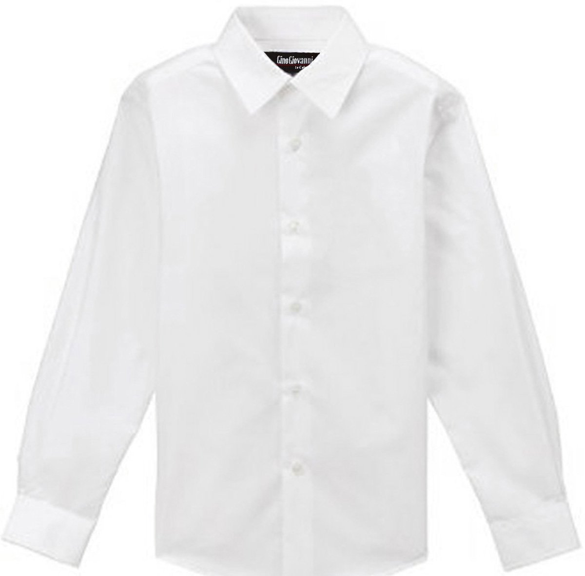 WHITE SHIRT for Boys Gino Formal Dress Shirt From Baby to Teen (4T)