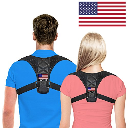 Posture Corrector for Men & Women by Truweo – USA Designed Upper Back Support Brace for Providing Pain Relief from Neck, Back, Shoulder & Bad Posture - Clavicle Support Brace for Slouching & Hunching by Truweo