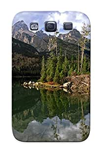 Galaxy S3 Case Cover Taggart Lake Reflection, Wyoming Case - Eco-friendly Packaging