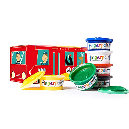 t Lovely School Bus; Washable;Art Tools;Non-Toxic;6 Colors of Pigment (Doug Finger Paint)