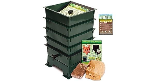 Amazon.com: Worm Factory 3 bandejas de compostaje de gusanos ...
