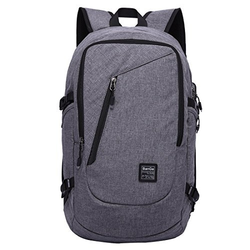 Laptop Business Backpack 35L Waterproof Multifunctional Lightweight School Travel Bag with USB Charging Port,Gray