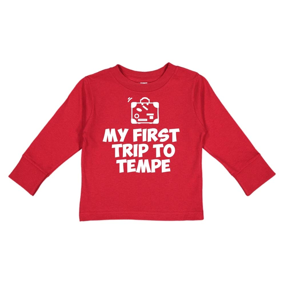 Mashed Clothing My First Trip to Tempe Toddler//Kids Long Sleeve T-Shirt