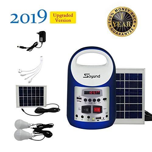 soyond Portable Solar Generator with Solar Panel Solar Powered Generator Inverter Small Basic Portable Electric Generator Kit, Solar Lights for Home, Camping, Power for Solar Fans, 1-Year Warranty by soyond (Image #7)