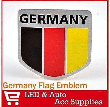 oxgrow TM Auto Auto Alu Badge Aufkleber Emblem Aufkleber f/ür Shield 3D Auto Aufkleber Car Badge K/örper-Aufkleber UK Frankreich Italien Deutschland Flagge Design