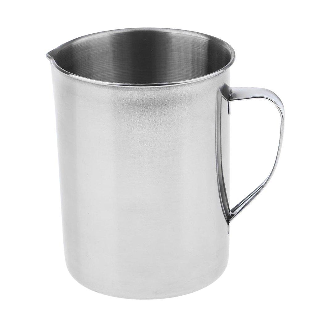 Homyl Stainless Steel Laboratory Measuring Cup Mug Beaker Lab Graduated Beaker + Handle 2L