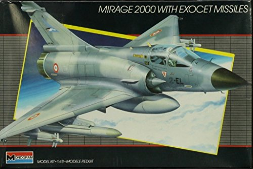 Monogram 1:48 Mirage 2000 with Exocet Missiles Plastic for sale  Delivered anywhere in USA