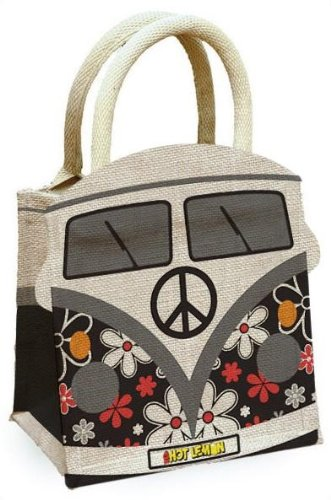 FABULOUS CAMPERVAN JUTE HESSIAN SHOPPING BAG..AVAILABLE IN 5 COLOURS BRAND  NEW (BLACK)  Amazon.co.uk  Kitchen   Home bc9ec241df030