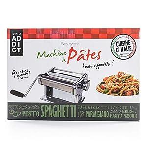 Totally Addict KU6088 - Macchina per Pasta, Acciaio inossidabile, Grigio