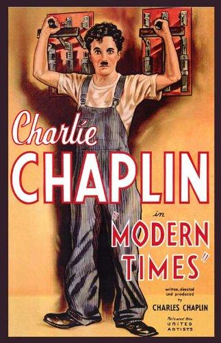 Modern Times Poster Movie B 11x17 Charlie Chaplin Paulette Goddard Henry Bergman Stanley (Chaplin Movie Poster)