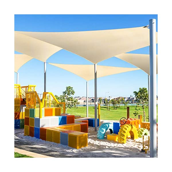 51jeDL63CdL WOKKOL Sonnensegel, Sonnen Segel, Sonnensegel Wasserdicht, Sonnenschutz Balkon Hergestellt aus hochwertigem Polyester…