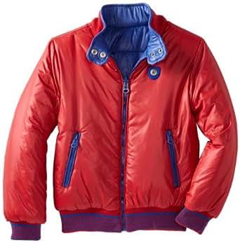 Diesel Big Boys' Jisloy Nylon 2 Color Reversible Jacket, Royal Blue/Red, Large