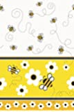 "Bumble Bee Plastic Tablecloth, 84"" x 54"""