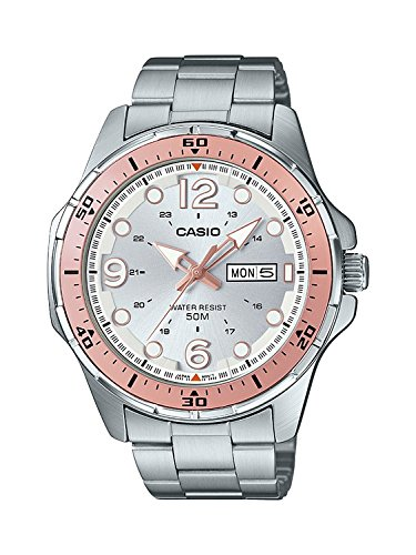 Casio #MTD100D-7A1V Men's Enticer Sports Stainless Steel Day Date Silver Dial Watch -  MTD-100D-7A1VDF (A1152)