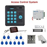 MOUNTAINONE Door Access Control System Controller ABS Case RFID Reader Keypad Remote Control 10 ID cards Magnetic Lock SY5100R-A180KG