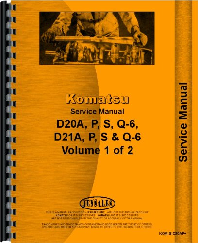 Komatsu D20p 6 Crawler Service Manual  Sn  60001 And Up   Chassis