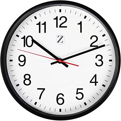 Zoyer Large Wall Clock 12 Inch Round Non-Ticking Silent Decorative Wall Clock - Easy To Read Large Numbers For Universal Use Universal Office Clock