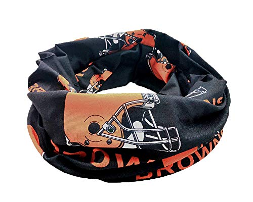 Gloral HIF Sports Face Mask Headscarf Cleveland Browns Football Outdoor Multivariant Scarf Helmet Liner Microfiber Polyester Multifunctional Seamless Headwear -