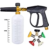 UCFOAM UC-996 3000 PSI High Pressure Washer Gun, M22 Thread, Snow Foam Lance, Snow Foam Cannon with 5 nozzle tips