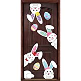 Toys : Easter Stickers Bunny Prints Decorations - Window Clings Egg Hunt Games Home Party Ornaments