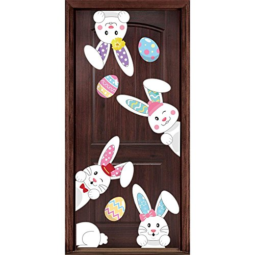 y Prints Decorations - Window Stickers Egg Hunt Games Home Party Ornaments (Easter Window)